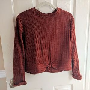 Zara Rust Long Sleeve Tee